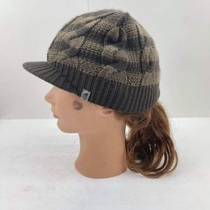 THE NORTH FACE Striped Peaked Beanie cap Hat OS